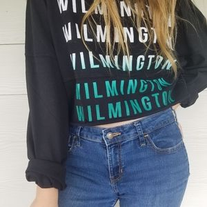 Womens Cropped Sweatshirt Small Wilmington Ombre